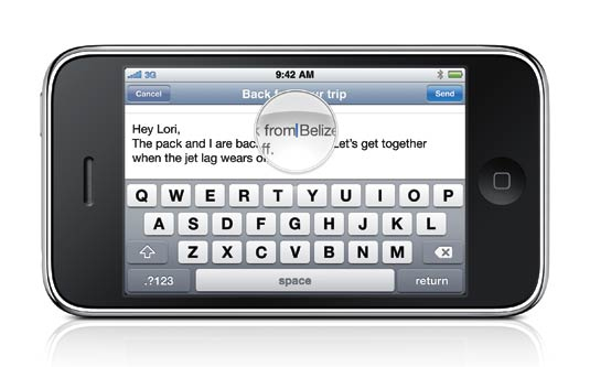 Landscape Typing in iPhone OS 3.0