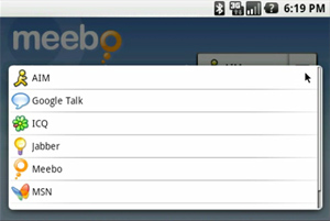 Meebo IM pour Android