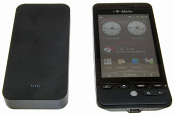 Battery Bank is smaller & lighter than the HTC Hero