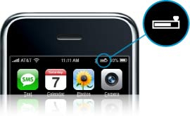 Jawbone Icon transmits battery level to the iPhone
