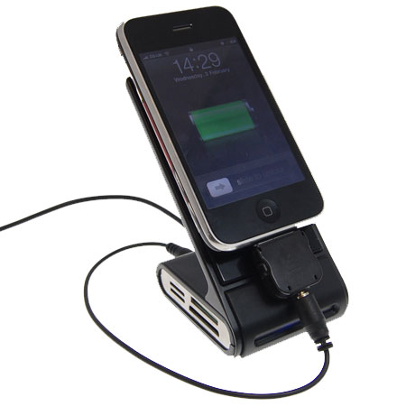 The Desk Genie can hold and charge almost any phone