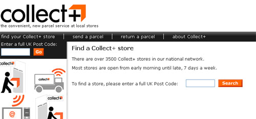 Click to find your local Collect+ Store