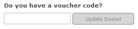 Voucher code box
