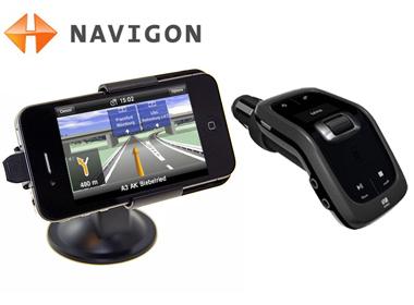 Navigon on iPhone 4 with the Venturi Mini