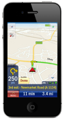 Sat Nav on iPhone 4
