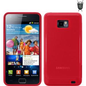 FlexiShield Skin For Samsung Galaxy S2 i9100 - Red