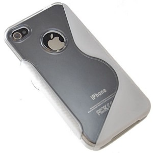 Flexishield Wave case for iPhone 4 White