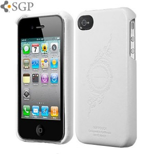 SGP Grip Case for iPhone 4 - White