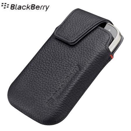 Blackberry bold 9900 leather swivel holster pitch black