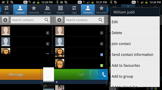 use contacts quick shortcuts samsung galaxy s2 forum samsung galaxy s2 forums. Black Bedroom Furniture Sets. Home Design Ideas