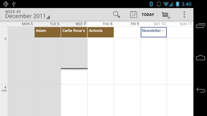 pinch to zoom calendar