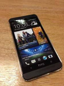 Cyrstal Clear Case for HTC One front view