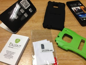 Trident Aegis Case for HTC One pack contents