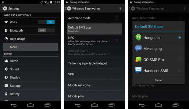 Android 4 4 SMS text messaging app alternatives (and how to