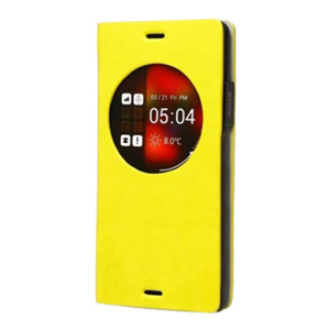 Zenus Z-View Dolmites Samsung Galaxy Note 4 Diary Case - Lime Yellow