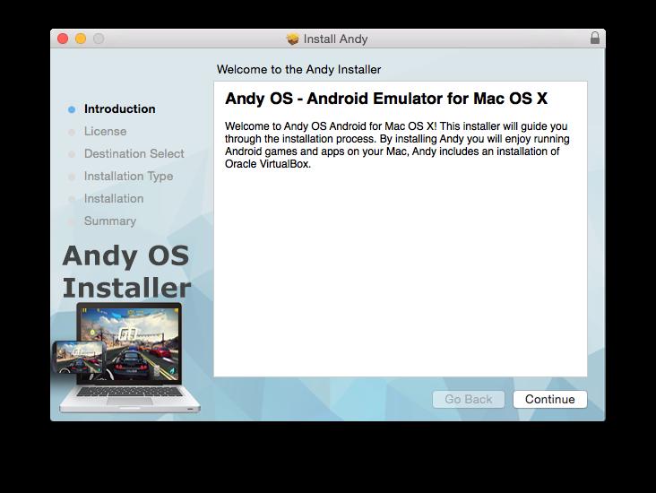install android emulator mac os x