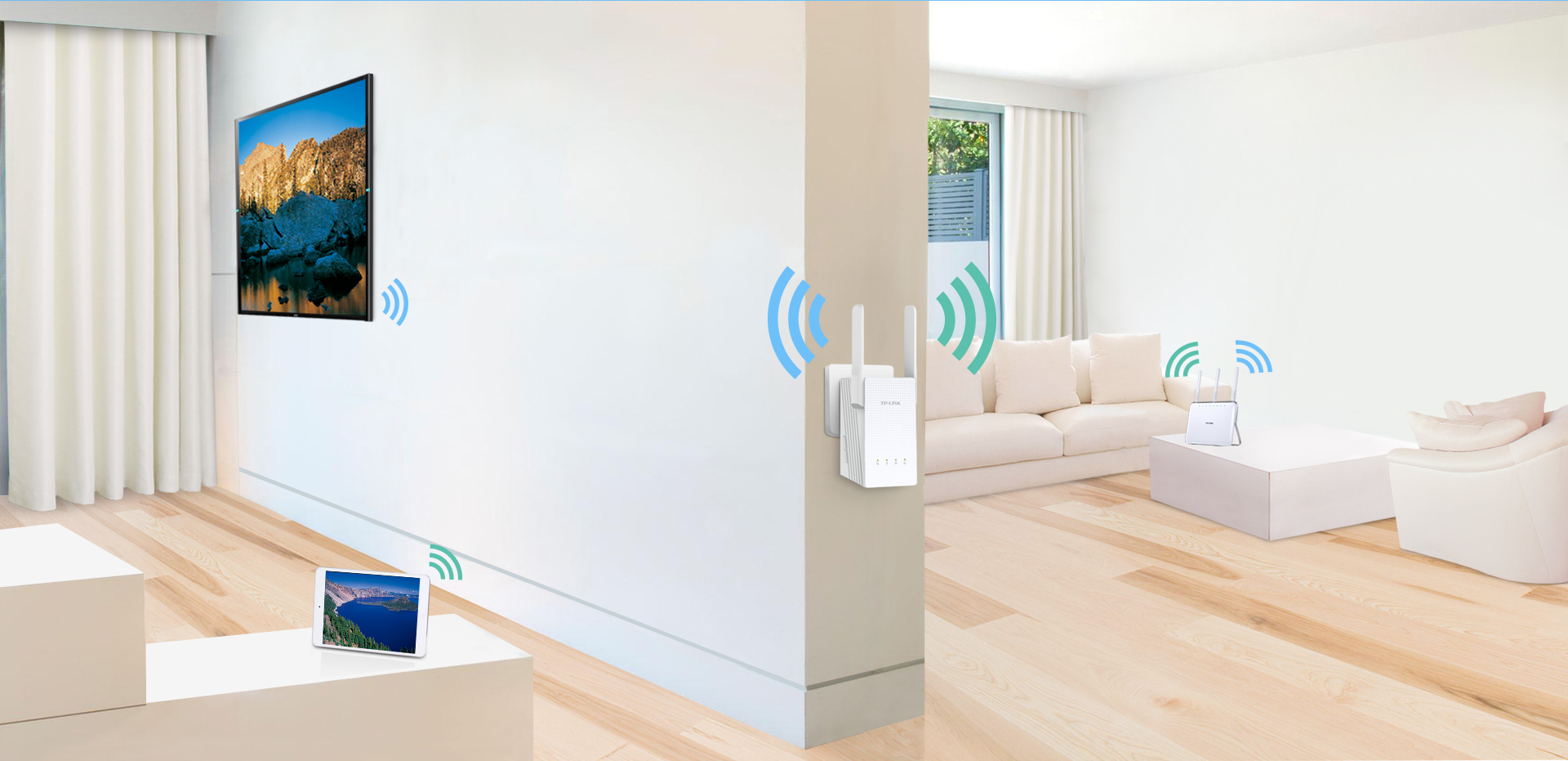 This high-end WiFi range extender is an elegant solution to