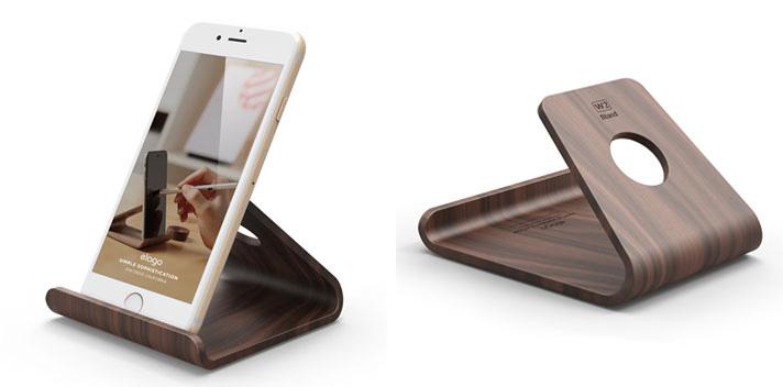 elago w2 iphone and ipad wooden desk stand prudence senseless lusher