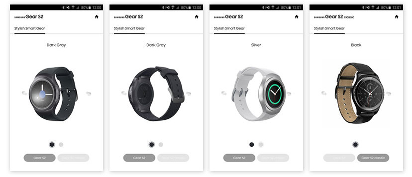 Try on a Gear S2 with Samsung's new app