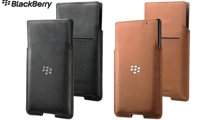 Official Blackberry Priv Leather Pocket Case Cover