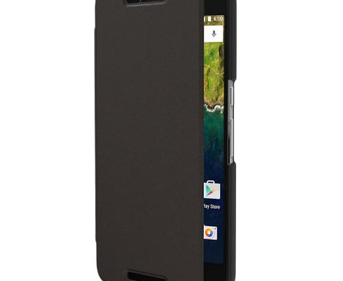 Adopted Nexus 6P Genuine Leather Folio Case - Black