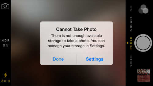 How To Fix Cannot Take Photo Error On Iphone Mobile