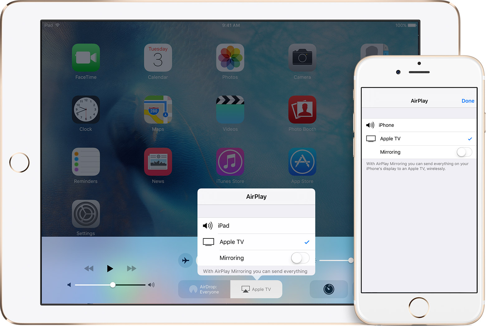 stream wirelessly to an apple tv