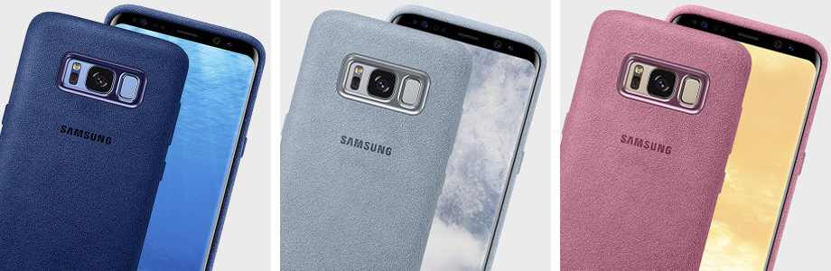 Cover Case Officielle Samsung Galaxy S8 Alcantara