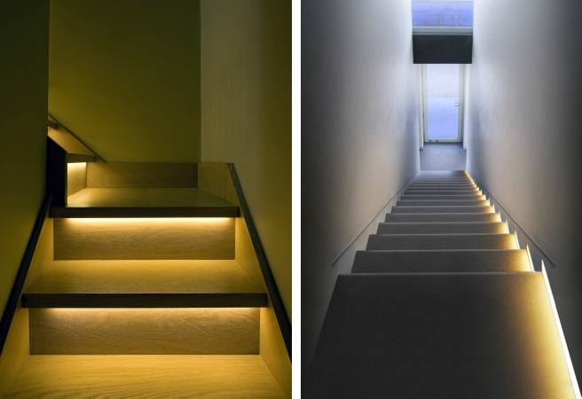 Lighting Basement Washroom Stairs: 5 Brilliant Uses For Motion-activated LED Strip Lights