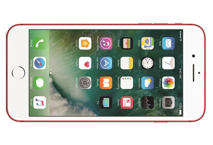 For Whatever Reason The PRODUCT RED IPhone 7 Comes With A White Front Which Somewhat Detracts From Whole Look Mockups Of What Red And Black Model