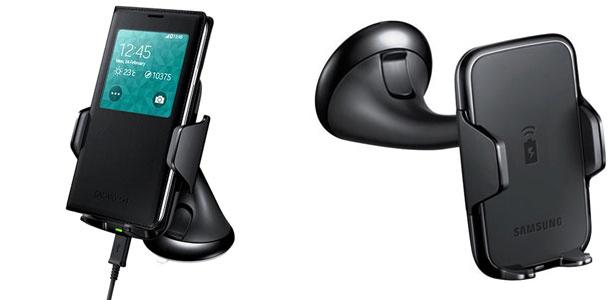 Support voiture Samsung Galaxy S8 / S8 Plus avec chargement sans fil
