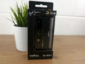 Mobile Fun Giveaway: Veho SAEM Ayrton Senna Bluetooth Speaker Car Kit in package