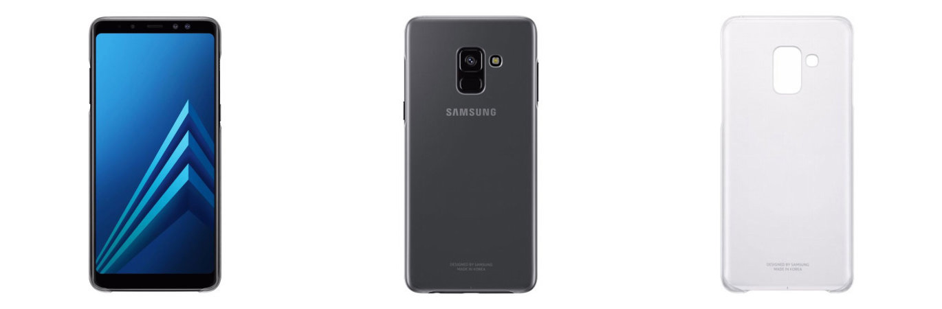 ab9f02ffd Next up is an official case from Samsung; the Clear Cover. This case, as  the name suggests, provides a clear yet protective wrap for your Galaxy A8 ( 2018) ...