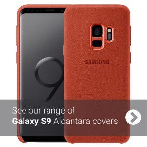 Samsung S9 Alcantara Cover Case