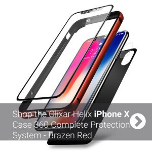 iPhone X Complete Protection System - Brazen Red