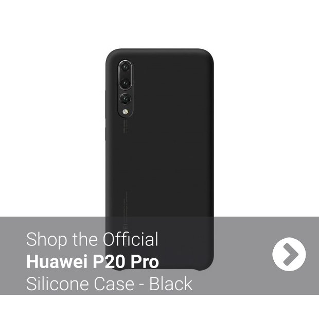 Official Black Huawei P20 Pro Silicone Case