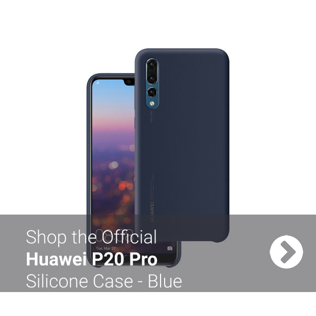 Blue Official Huawei P20 Pro Silicone Case