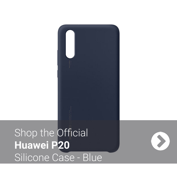 Blue Official Huawei P20 Silicone Case