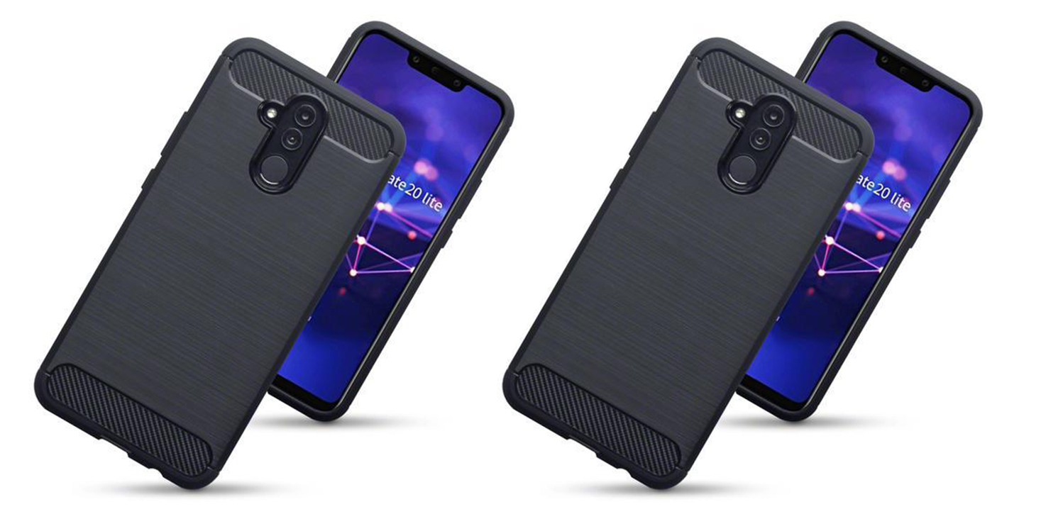 Olixar Huawei Mate 20 Lite Carbon-Fibre Design Gel Case - Black