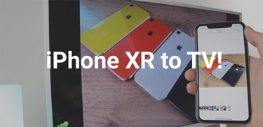 get iphone xr to tv banner