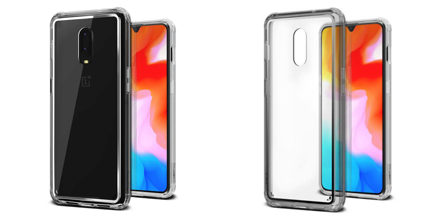 vrs crystal chrome oneplus 6t case clear