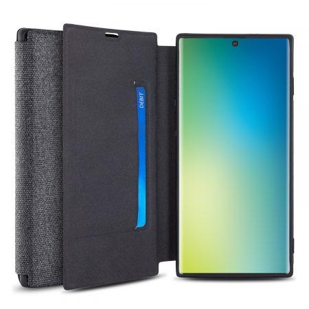 Olixar Canvas Samsung Galaxy Note 10 Wallet Case - Grey