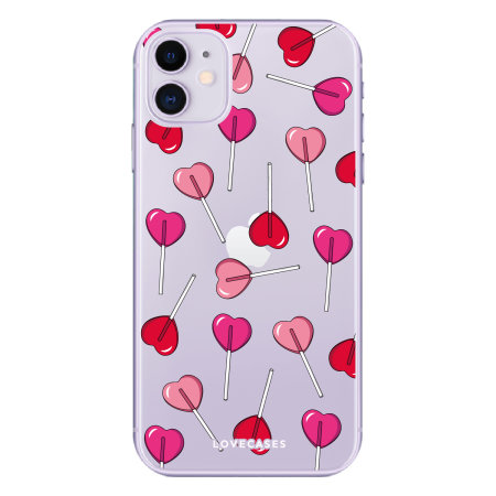 LoveCases iPhone 11 Valentines Lollipop Clear Phone Case