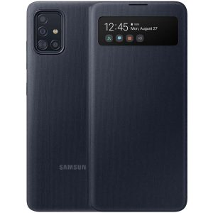Official Samsung Galaxy A71 S-View Flip Cover Case - Black