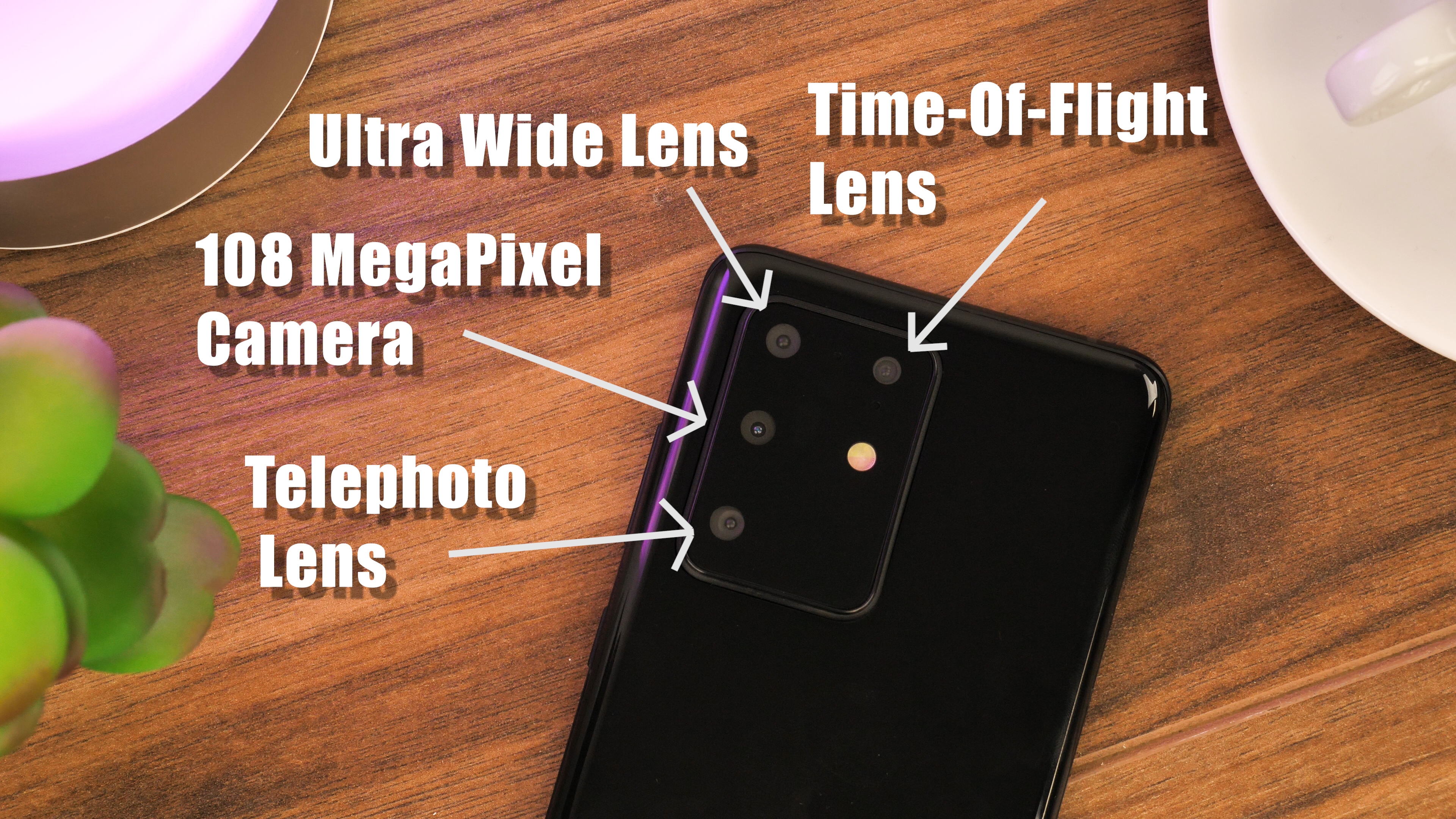 Samsung Galaxy S20 Camera Layout