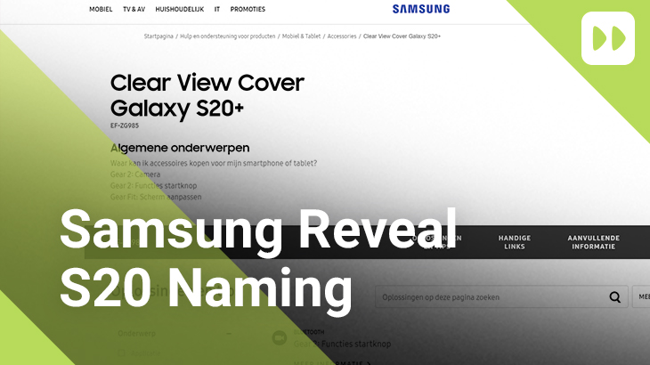 Samsung Reveal S20 Naming