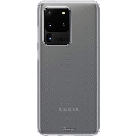 Official Samsung Galaxy S20 Ultra Clear Cover Case - Transparent