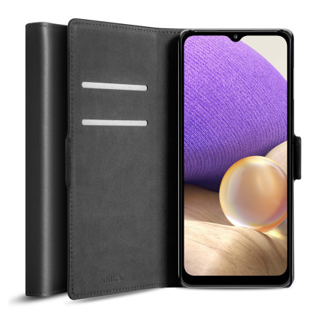 Olixar Genuine Leather Samsung Galaxy A32 5G Wallet Case - Black