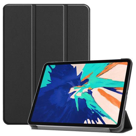 Olixar Leather-style iPad Pro 12.9 2021 5th Gen. Folio Case - Black