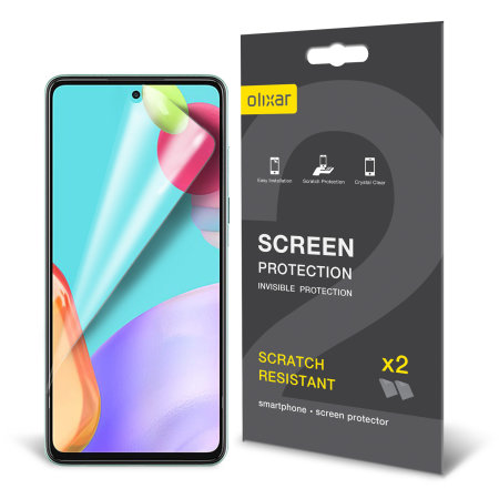 Olixar Samsung Galaxy A52 Film Screen Protector - 2-in-1 Pack